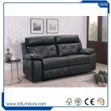 Projetos ajustados do sofá de couro confortável da sala de visitas com pés de aço