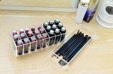 Rectángulo de almacenaje de acrílico material puro del lápiz labial de las ranuras de Yageli 24
