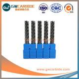 HRC45/50/60 de carburo sólido 2/3/4 flauta molinos de extremo plano