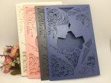 Карточки приглашения бумажного венчания перлы отрезока лазера высокого качества