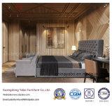 Meubles de chambre à coucher d'hôtel de couleur foncée avec le jeu de fourniture en bois (YB-WS21-1)