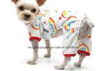 Pigiami molli 100% del gatto dell'abito del cappotto dell'animale domestico dei costumi della piccola camicia del cane dei pigiami del cotone dei pigiami dell'animale domestico del Rainbow