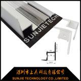 Profilo di alluminio fissato al muro d'angolo del soffitto LED per la barra chiara del LED