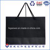 D'impression personnalisé sac de papier mat noir de luxe, l'Emballage Sac de papier, chiffon Shopping sac de papier