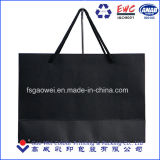 La impresión personalizada bolsa de papel negro mate de lujo, el embalaje bolsa de papel, tela bolsa de papel comercial
