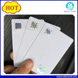 Пластичные карточки удостоверения личности с Anti-Counterfeit верхним слоем фольги лазера