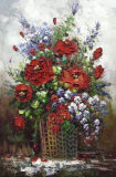ホーム装飾のための重油の花の油絵