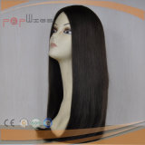 Peluca humana de despedida media del pelo de la Virgen (PPG-l-01084)