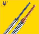 Molino de extremo largo de la nariz de la bola de las flautas del cuello 2 del carburo sólido de la alta calidad