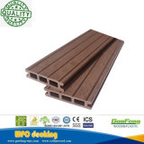 Decking hueco compuesto plástico de madera reciclable Anti-ULTRAVIOLETA favorable al medio ambiente