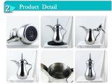 Café arabe électrique d'acier inoxydable Dallah 1.3L avec l'enduit argenté