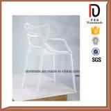 Empilage chaise de salle à manger en plein air en plastique chaise de jardin