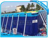 Pvc boven Pool van het Frame van het Metaal van het Zwembad van het Staal van de Grond de Rechthoekige