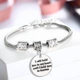 方法宝石類の名前のステンレス鋼の銀の腕輪のブレスレット