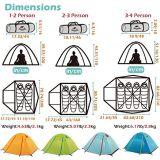 Водонепроницаемый Кемпинг Палатка для походов промысел треккинг на пляже с УФ защитой палатка