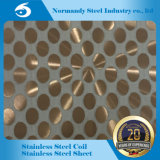 Le miroir de 201 couleurs poli a repéré la plaque d'acier inoxydable pour l'ascenseur
