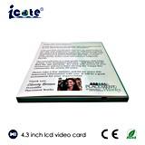 Карточка 4.3 дюймов видео- для дела/выдвиженческого etc приглашения/рекламировать подарка