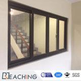 홈을%s 이중 유리를 끼우는 은 회색 색깔 알루미늄 슬라이딩 윈도우