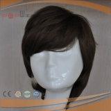 Cheap corto Cabello pelucas de fibra mixta (PPG-L-01594)