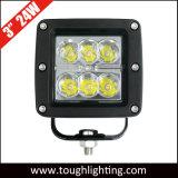 3 인치 정연한 크리 사람 Offroad 18W LED 트럭 작동 빛