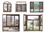 Profilo di alluminio di trasferimento di legno del grano di alta qualità per la finestra