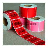 Etiqueta engomada adhesiva de la impresora del código de barras de la escritura de la etiqueta de papel