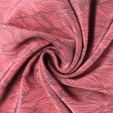 Pele lavada impressa do pêssego de veludo para o vestido do vestuário