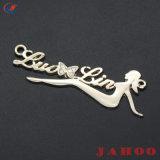 衣服のための安いカスタム衣類の金属の衣服のこつの札のラベル