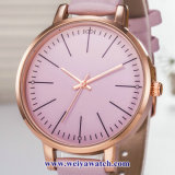 Produtos OEM personalizados Senhoras Quartz Relógios sabia, Senhora vele liga (WY-17041)