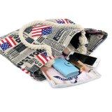 女性のフラグの文字プリントキャンバス旅行ショッピングショルダー・バッグ