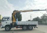 道のトラックを離れたDongfeng 6X6はFold-Able XCMGクレーンによって取付けた