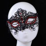 Het hete Verkopende Masker van het Kant van de Bal van het Geslacht van de Gem van de Europees-Stijl Rode