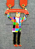 Подгонянная заливка формы с качать Pendent покрынное эмалью медаль
