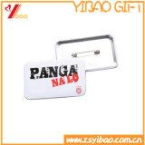 昇進のギフトのための正方形のタイプ印刷されたロゴボタンのバッジか錫のバッジ