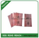 Le PEBD sac de plastique antistatique de couleur rouge avec recycler marque imprimée Polybag accueil personnalisé