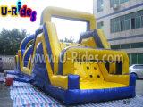 Desafio inflável inflável barato do obstáculo do curso de obstáculo da fábrica 12m para o evento Rental
