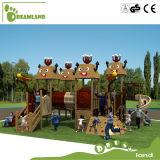 Campo de jogos ao ar livre de madeira do jardim de infância impertinente do castelo para a venda