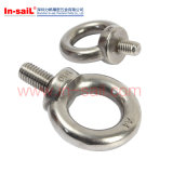 Cobre de los tornillos de ojo del acero de carbón de la alta calidad del Manufactory de China plateado