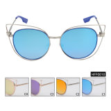 Female Fashion Mirror Sunglasses with Stainless Frame NO MOQ (HFF0010)