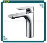 Faucet de superfície Polished do Washbasin furo fácil do punho 1 da instalação do único