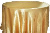 Tablecloth redondo do cetim da decoração do banquete do restaurante do banquete de casamento de Oilproof de pano de tabela do poliéster da tampa de tabela
