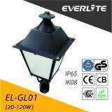 La Chine de la fabrication de haute qualité énumérés à LED IP65 DLC Post haut jardin paysager de l'éclairage des feux
