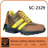 Chaussures de sûreté de cordon de travail de Saicou et gaines de sûreté de pétrole et chaussures de sûreté résistantes d'été Sc-2329