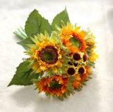Fiori falsi di seta di seta dei fiori artificiali del girasole di alta Mano-Sensibilità per la decorazione di festival