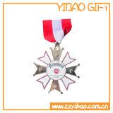 Médaille en alliage de zinc plaquée d'or de coutume 2D