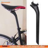 Venta caliente tija de carbono 27.2 / 30.8 / 31.6 * 350mm/ 400mm de Mountain Bike 3K / desplazamiento posterior del asiento de carbono Ud MTB piezas de bicicleta de carretera