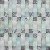 Mischungs-Farbenraue quadratische Glasmosaik Küche-Fliese