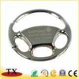 Het aangepaste Platerende Metaal Keychain van de Vorm van het Stuurwiel