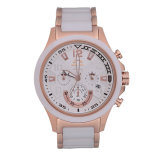 Matériau en céramique et inoxidable montres de Mens d'affaires, Mens de chronographe, de type multifonctionnels d'OEM