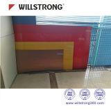 Os materiais compósitos de 4mm de alumínio Acm Exteriorarchitectural Painéis fachadas fachadas ventilados de sinalização do teto da canópia